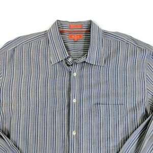 Falconnable Striped Casual Button Up Shirt